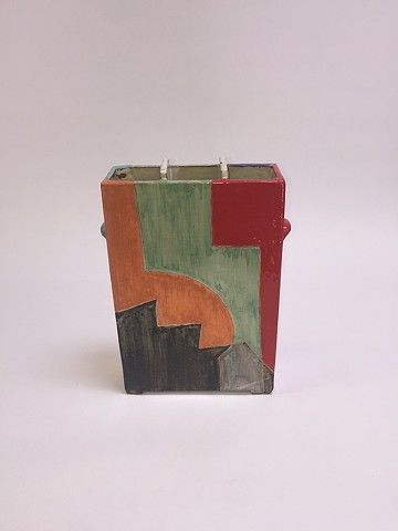 Squared Vase w/ Geometric Shapes (view 3)