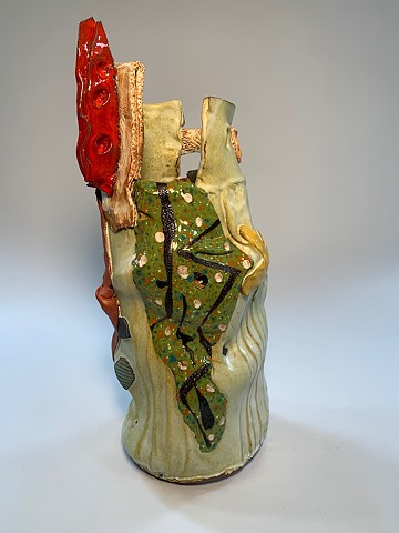 Tall Painted Vessel #2 (view 1)