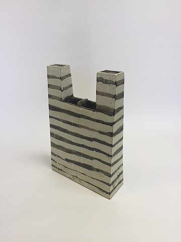 Black/White Architectural Vase (view 1)