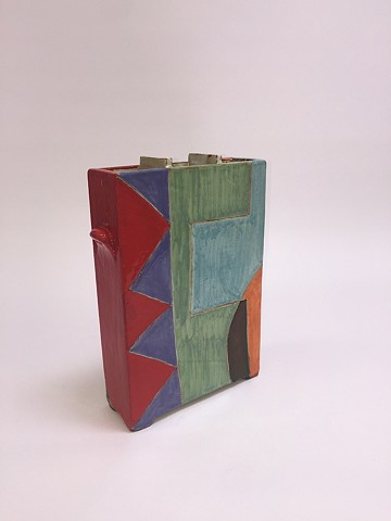 Squared Vase w/ Geometric Shapes (view 1)