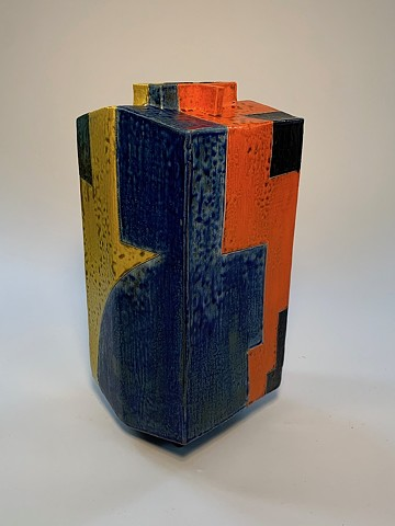 Short Geometric Vase (view 3)