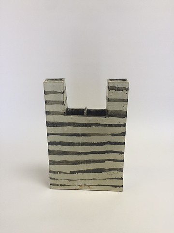 Black/White Architectural Vase (view 2)