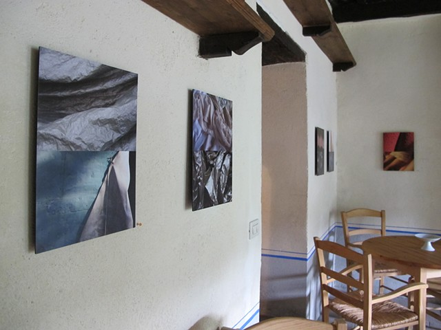 Photo installation by breakfast room doorway