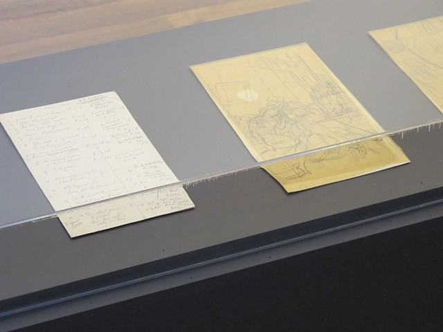 Drawings inside the case