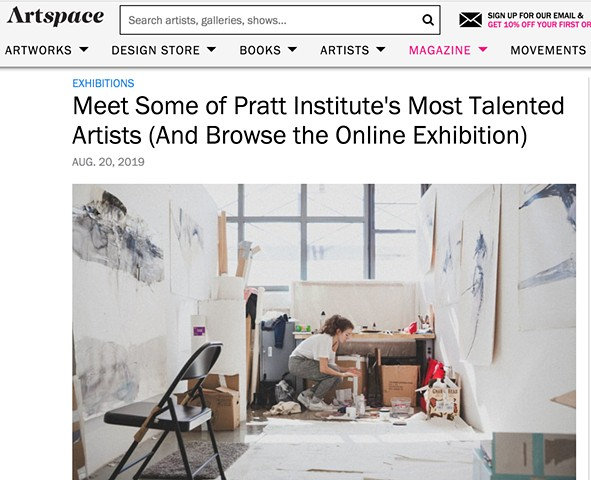 Featured on ArtSpace in Online Exhibition