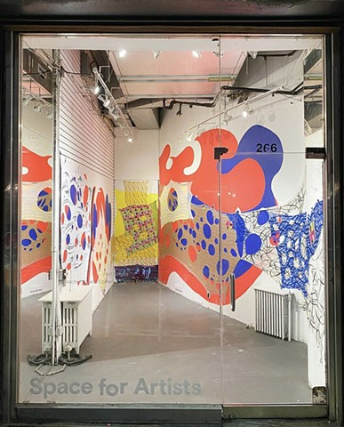 Collaboration with Carlos Rosales-Silva at 266 West 37th Street, New York, NY