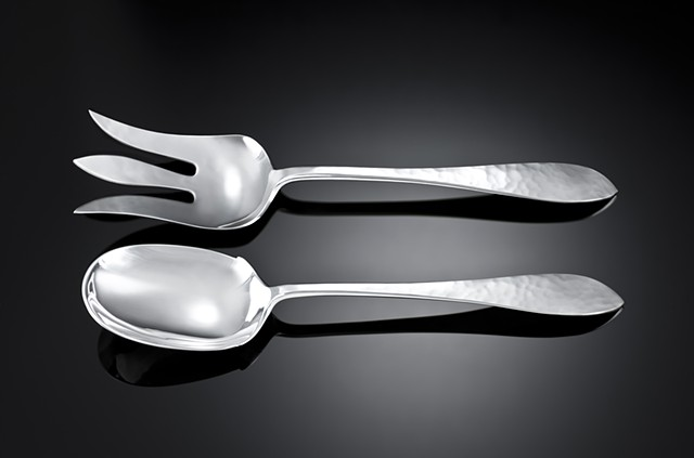 Overhammered Salad Servers