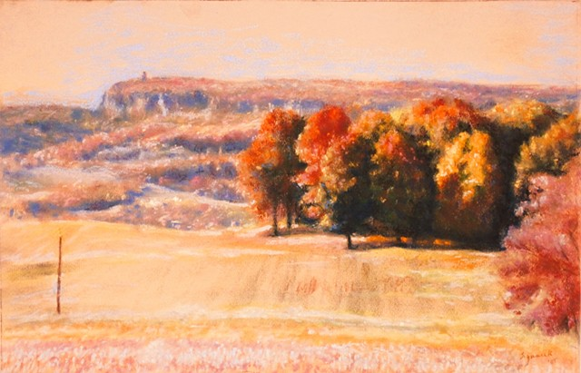 Pale electric landscape study