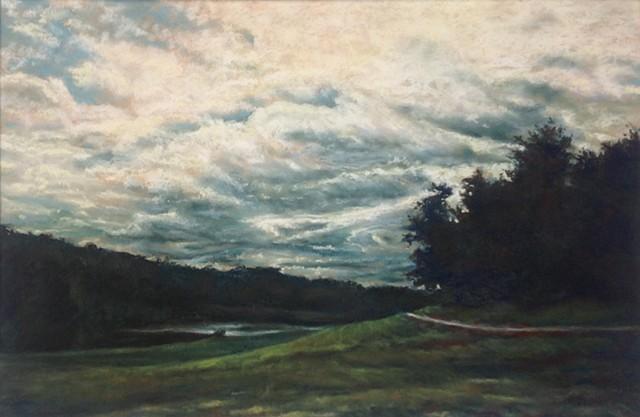 Golf Course, Overcast Sky