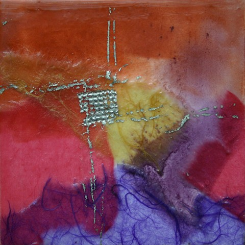 abstract, encaustic, pastel, paper, joss transfer