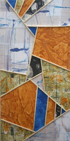 encaustic monotype collage oil cold wax paper geometric abstract