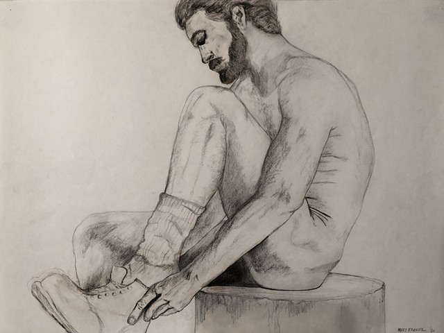 "Water Kerner ""ManTies Boot Life Drawing"""