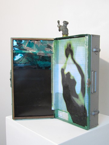 "Water Kerner ""Illuminated Triptych No.1"" sculpture"
