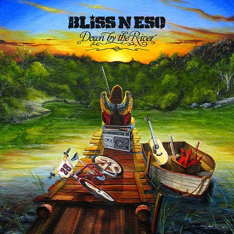 Bliss n' Eso 'Down by the River' Single cover artwork 2011