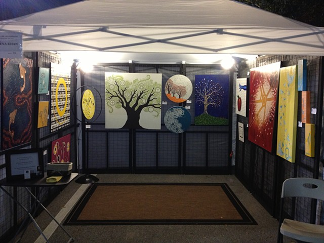 Booth shot, Tioga Winter Fine Art Fair.