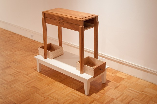 Bench on Table (after Brancusi's stacks)