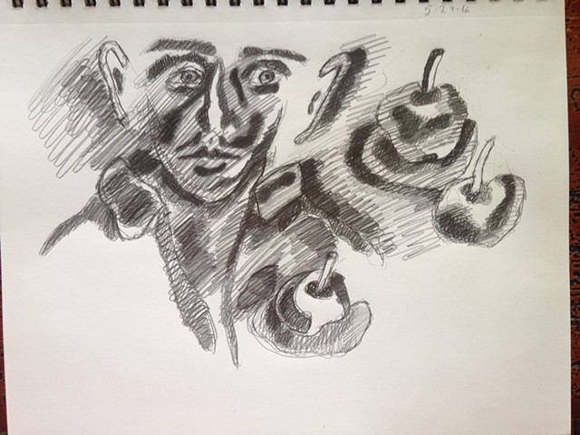 Face drawing male