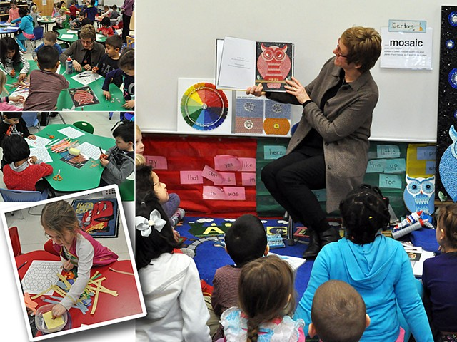 author visit and mosaic workshop