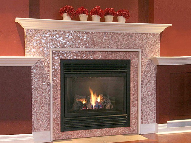 Mosaiced Fireplace
