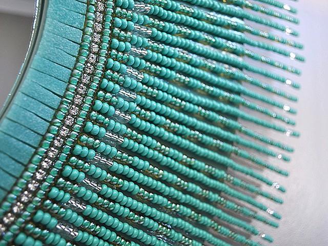 The Glass Bead Mirror, Turquoise Detail