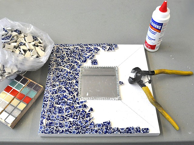 picassette mosaic mirrors by students