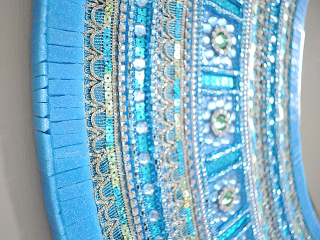 The Blue Saree Mirror Detail