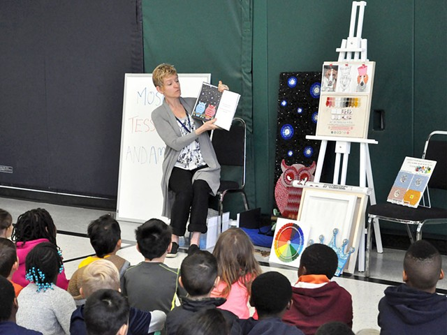 author visits and mosaic workshops