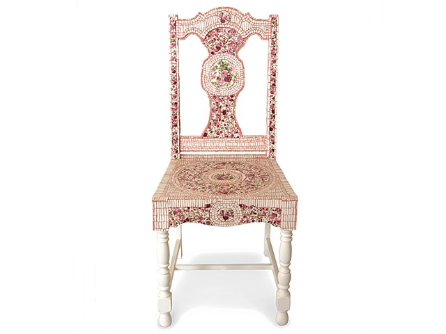 Mosaiced Rose Chair