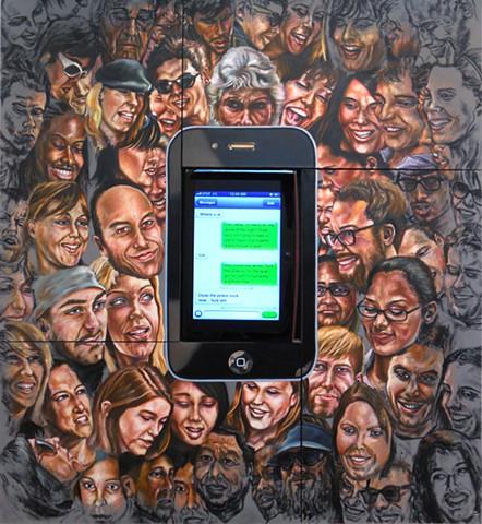 James Lassen, people, phones, iphone, text messages, painting