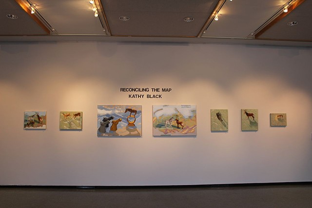 installation shot of exhibition at Julian Scott Gallery, Johnson State College