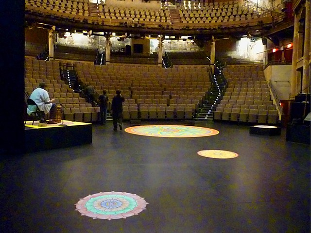 Mandala paintings for BAM Poetry 2013