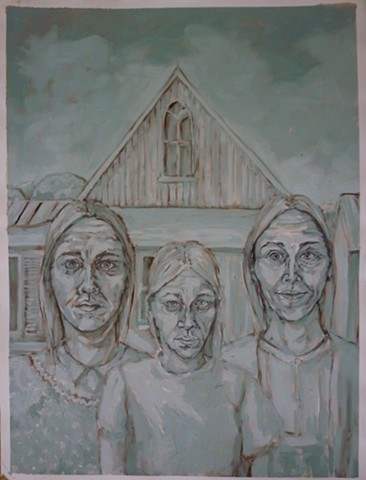 Blue Series American Gothic