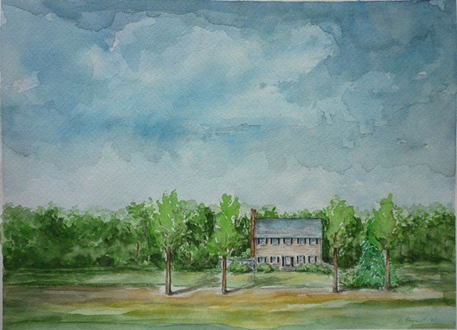 watercolor illustration archival paper Denise Penizzotto architectural drawing