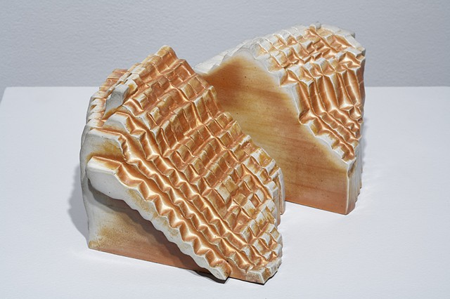 Porcelain sculpture based on fingerprint by Janet Williams