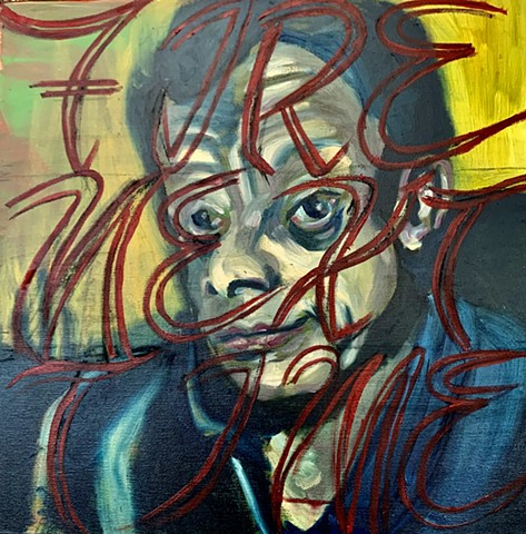 Oil Painting, James Baldwin, The Fire Next Time