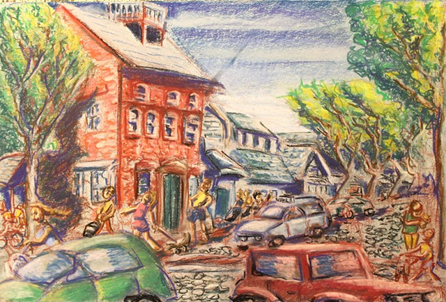 Nantucket Main Street, Pastel