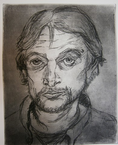 self portrait etching  john carruthers