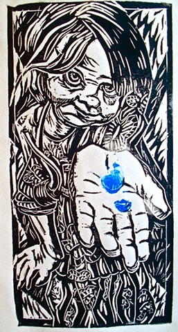 lino block cut, nantucket