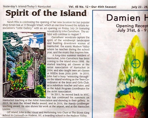 Article in Yesterday's Island about my 2015 show