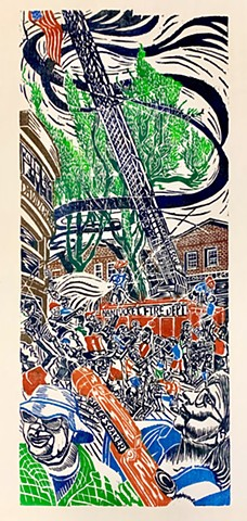 woodcut print, Woodblock print, Nantucket images