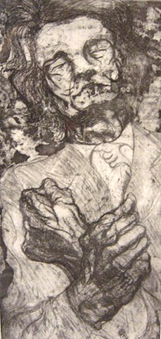 Antonin Artaud, Etching