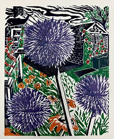 S'conset Thistle, Nantucket woodcut