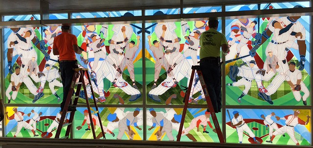 Public Art Glass Installation White Sox Station Chicago