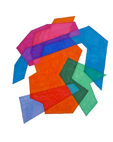 Cosenza Color/shape Study Orange/Green/Blue/Red
