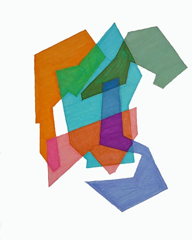 Cosenza Color/shape Study Orange/Teal/Pale Green/Blue/Pink