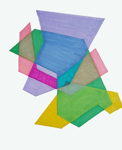 Cosenza Color/shape Study Violet/Green/Pink/Yellow