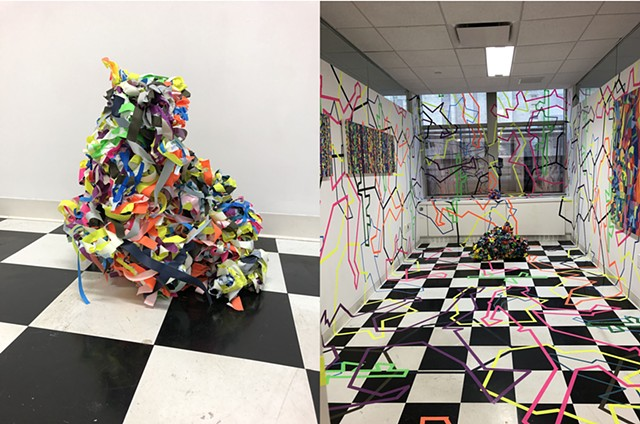 Installation view of Tectonic Noise  Spring Break Art Show 2020