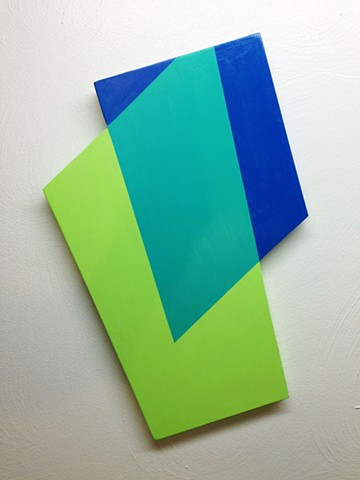 Untitled Shape (Blue and Green)