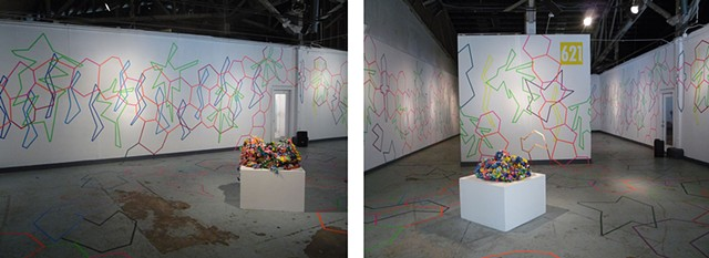 #lineshapecolor   Drawing Installation at 621 Gallery, Tallahassee, FL