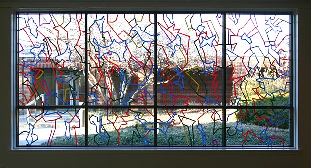 Window drawing, Roanoke College, Salem, VA